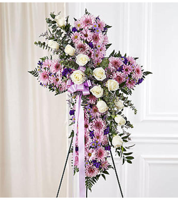 Peace and Prayers™ Standing Cross - Lavender