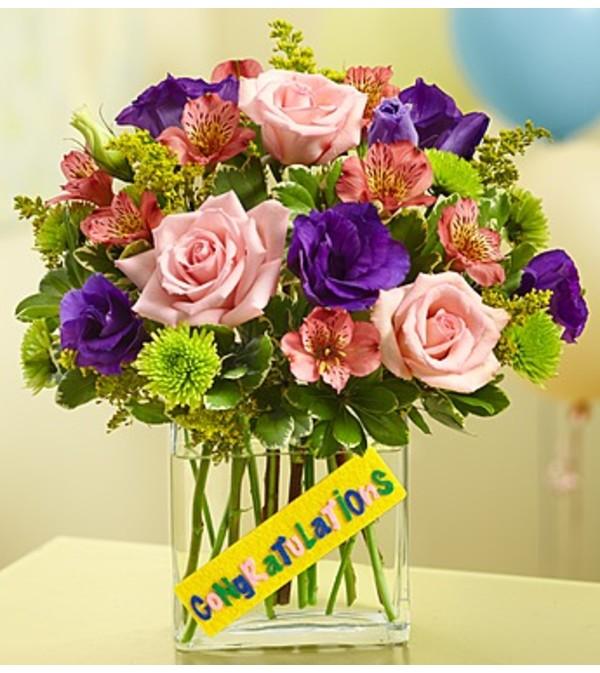 Congratulations Bouquet in a Rectangle V