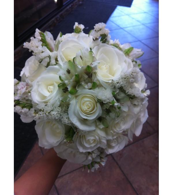 White Rose and Alstromeria Bouquet