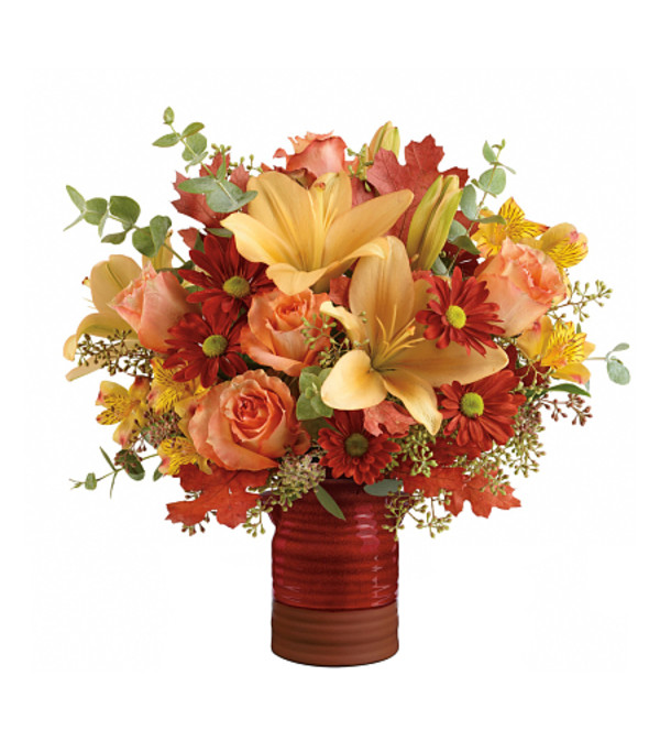 Teleflora's Harvest Crock Bouquet