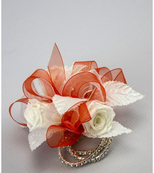Keepsake Corsage - Preserved White Roses JR