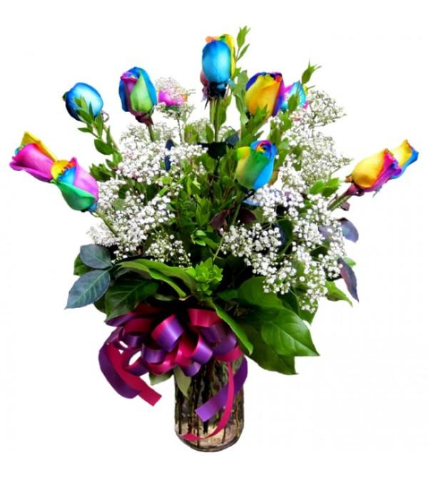 Fantastic Rainbow Roses