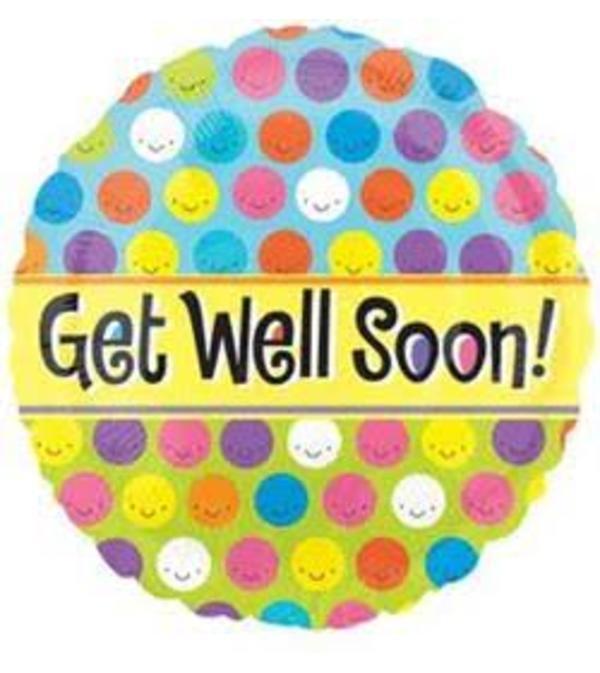 Get Well Quick Mylar Balloon
