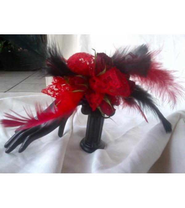 Feathered Corsage