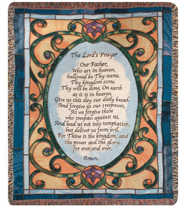 Memorial Throw Lord's Prayer
