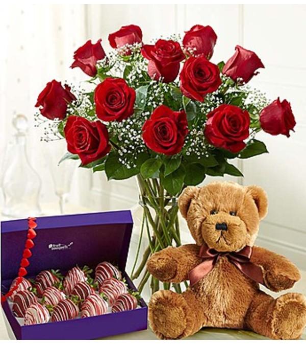 Celebration of Love Fruit Bouquet Bundle