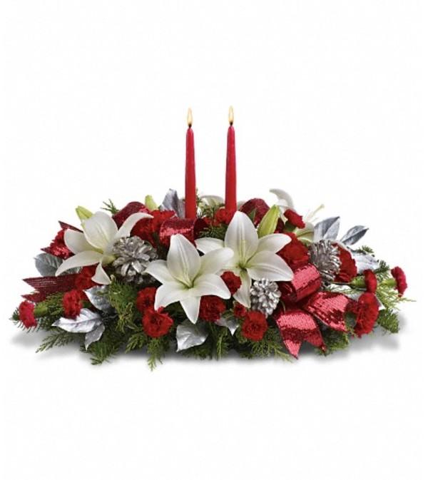 Lights Of Christmas Centerpiece Clearwater Fl Florist