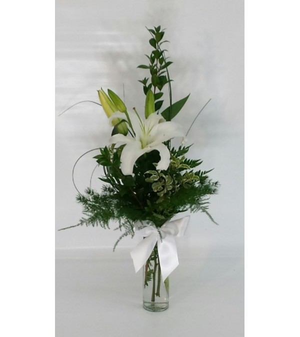 The Elegant Whitel Lily Vase Twin Falls Id Florist