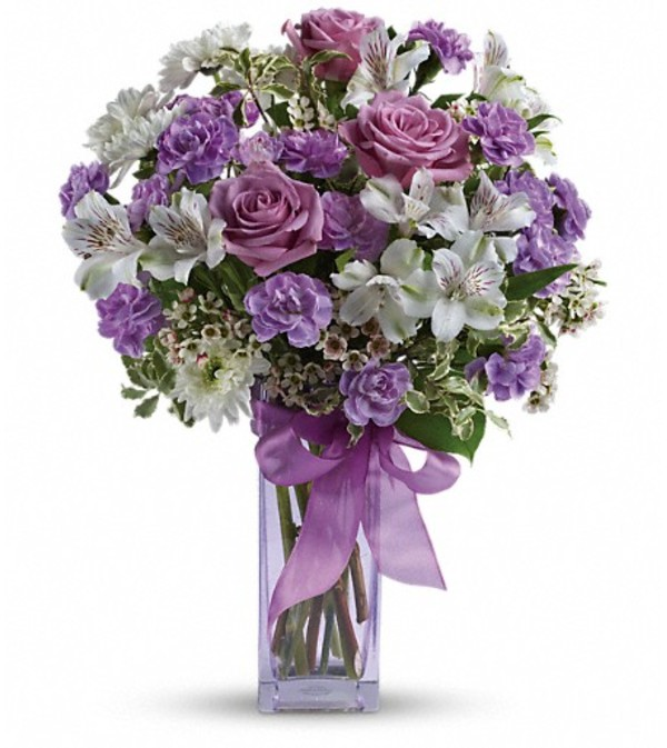 Teleflora's Lavender Laughter Bouquet