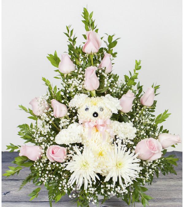 Pink Bear Arrangement