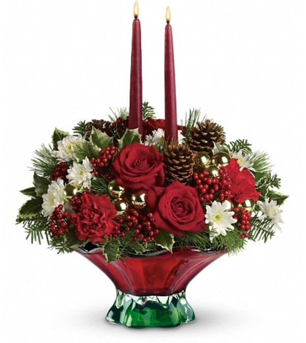 Teleflora's Always Merry Centerpiece