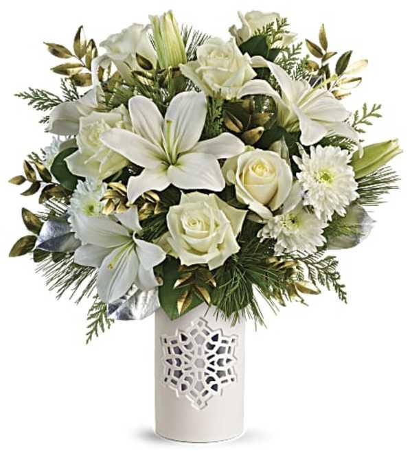 Teleflora's White Snowflake Bouquet
