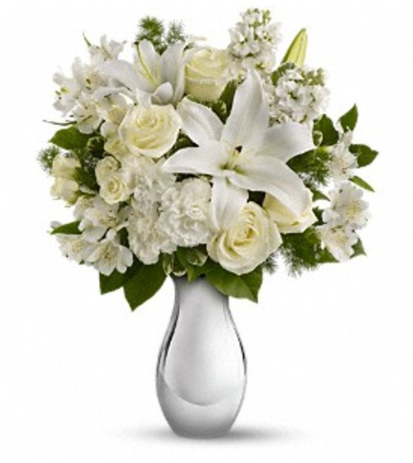 Shimmering White Arrangement