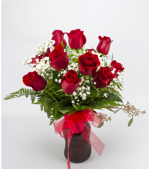 Classic (Medium) Red Rose Arrangement