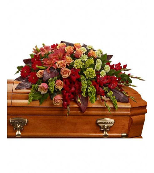 Fond Farewell Casket Spray