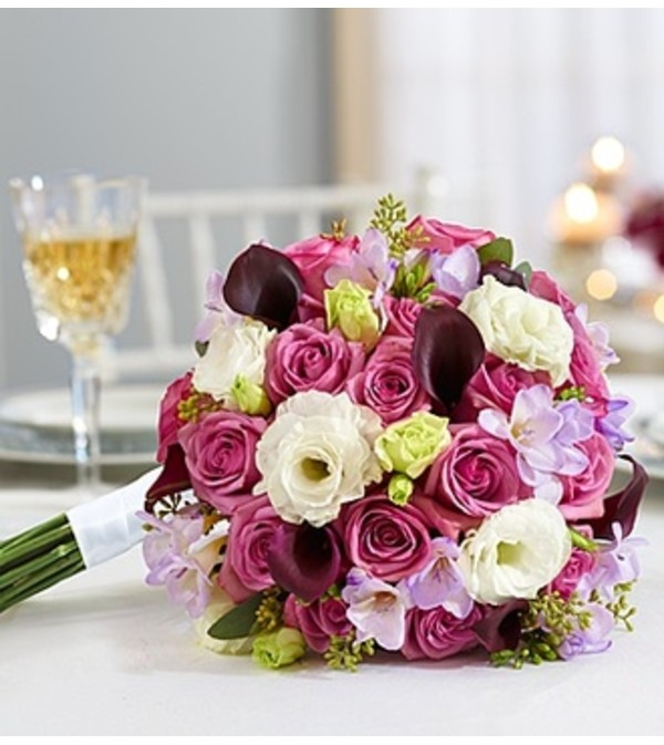 Purple Elegance Mixed Bouquet