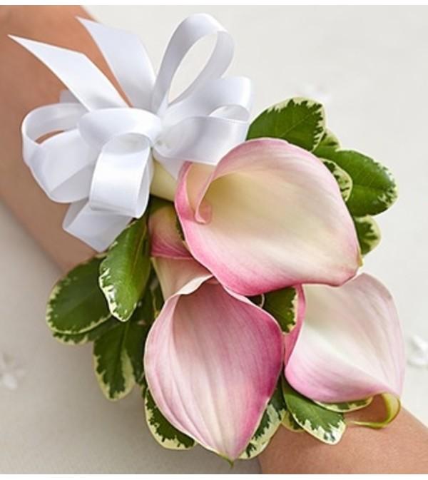 Pink Mini Calla Lily Corsage