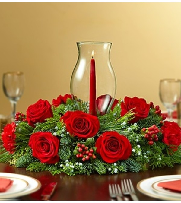 Holiday Cheer Centerpiece - Red