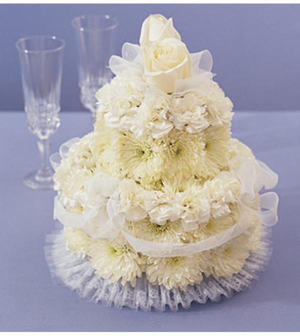Flower Cake for Wedding - Philadelphia, PA Florist