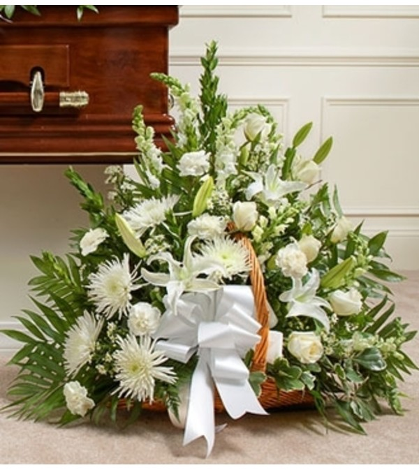 Thoughts and Prayers™ White Fireside Basket