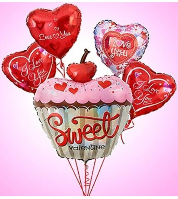 Sweet Valentine Cupcake Bouquet Bunch