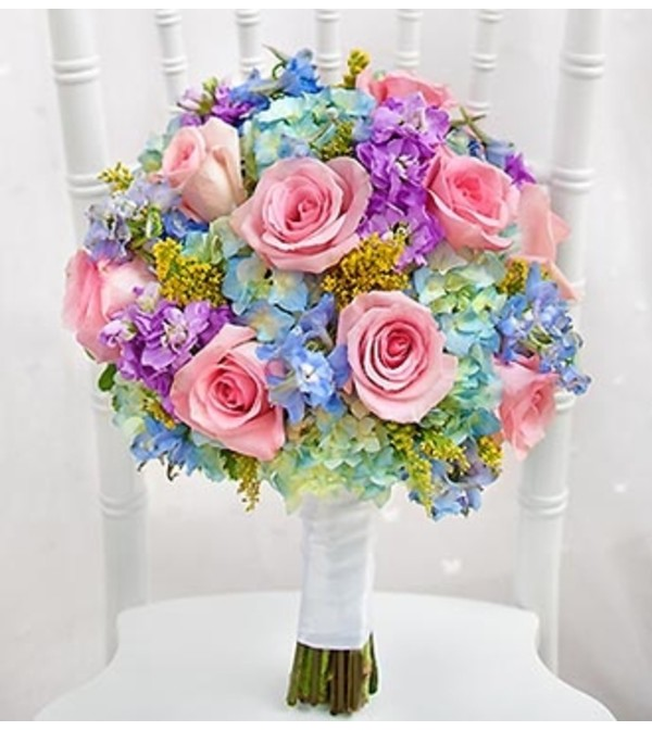 Pastel Bridal Bouquet Houston Tx Florist