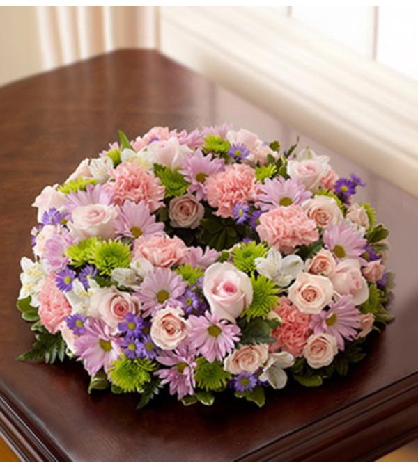 Cremation Wreath - Multicolor Pastel