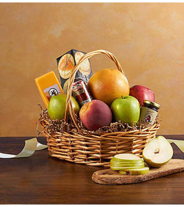 Fruit & Gourmet Basket For Sympathy