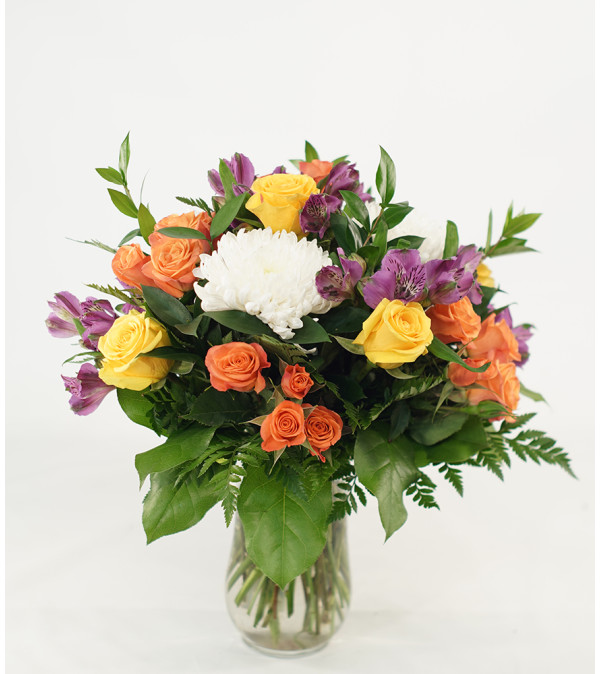Colorful Mixed Design with Spray Roses