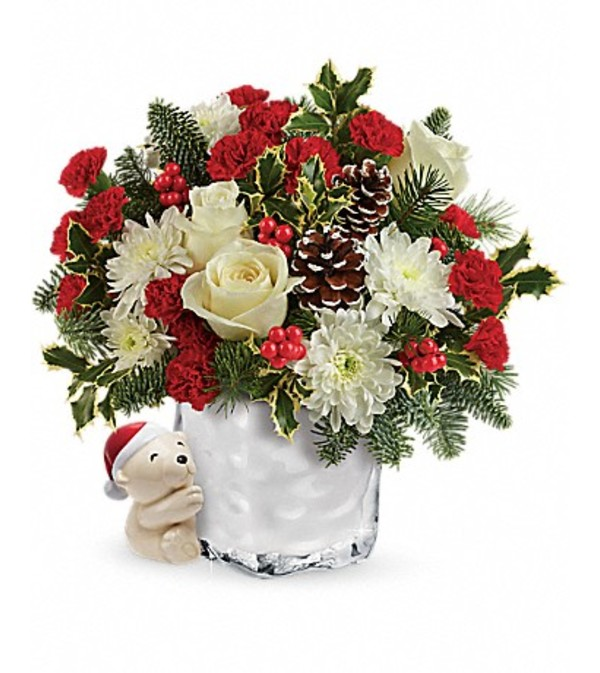 Send a Hug® Bear Buddy Bouquet by Teleflora