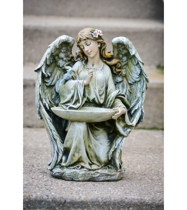 Kneeling Bird Feeder Angel