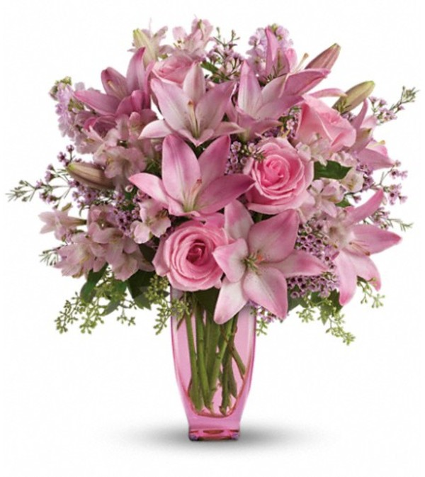 Teleflora's Pink Pink Bouquet with Pink Roses
