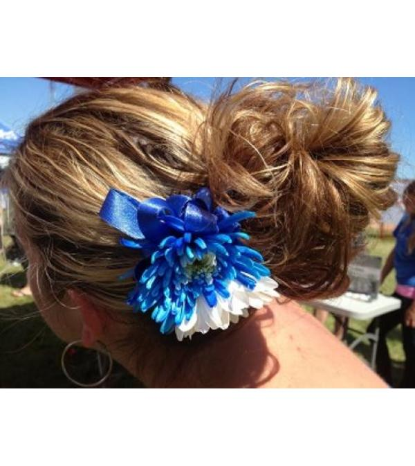 Daisy Hair Accessory - White & Blue