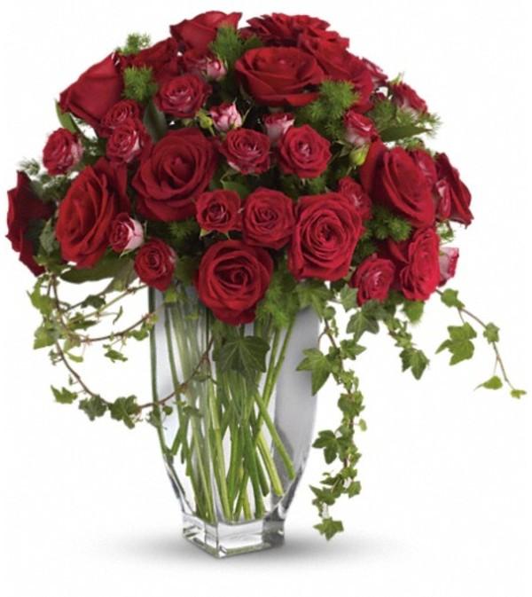 Teleflora's Rose Romanesque Bouquet - Red Roses