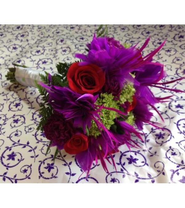 Popping Purple Bridal Bouquet