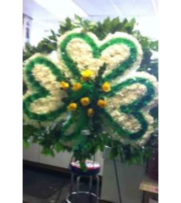 Funeral Custom Shamrock Sympathy Piece