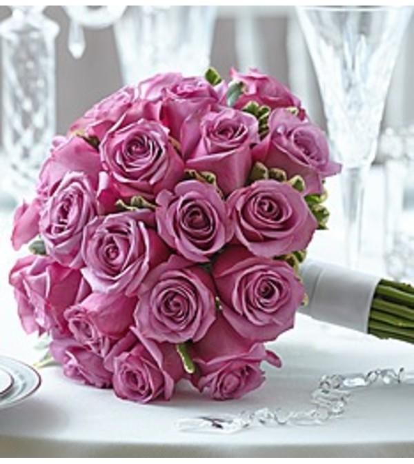 Elegance Purple Rose Bouquet