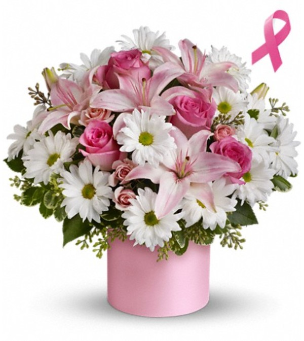 Teleflora's Pink Hope and Courage Bouquet
