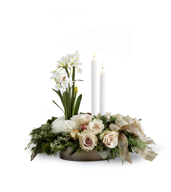 The ftd glowing elegance™ centerpiece iowa city ia florist