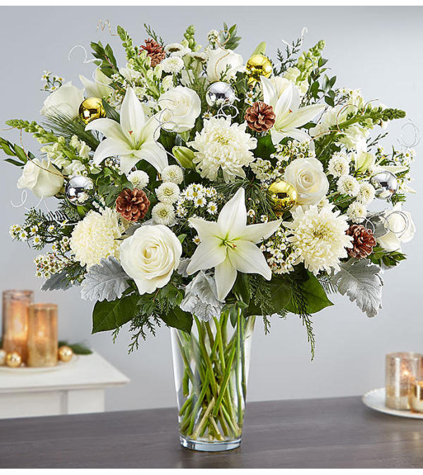 Dazzling Winter Wonderland Flower Arrangement