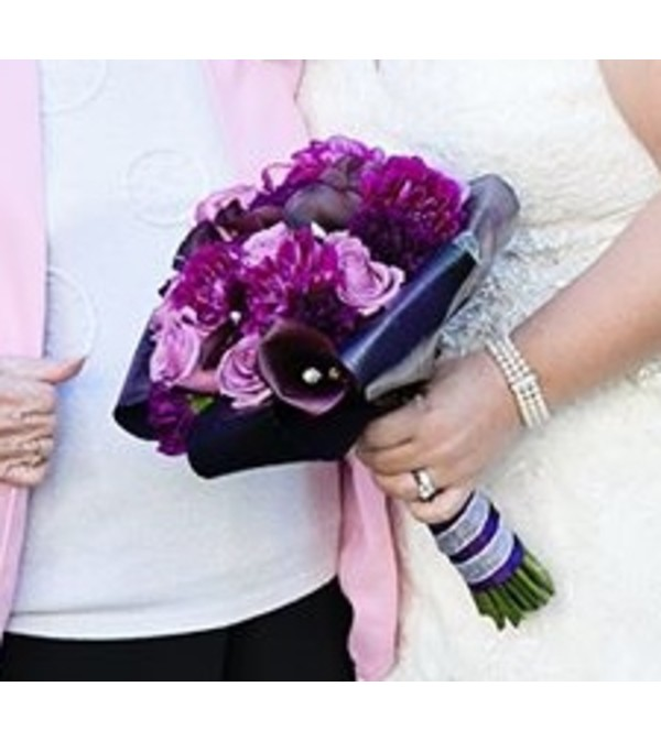 Perfectly Purple Bridal Bouquet