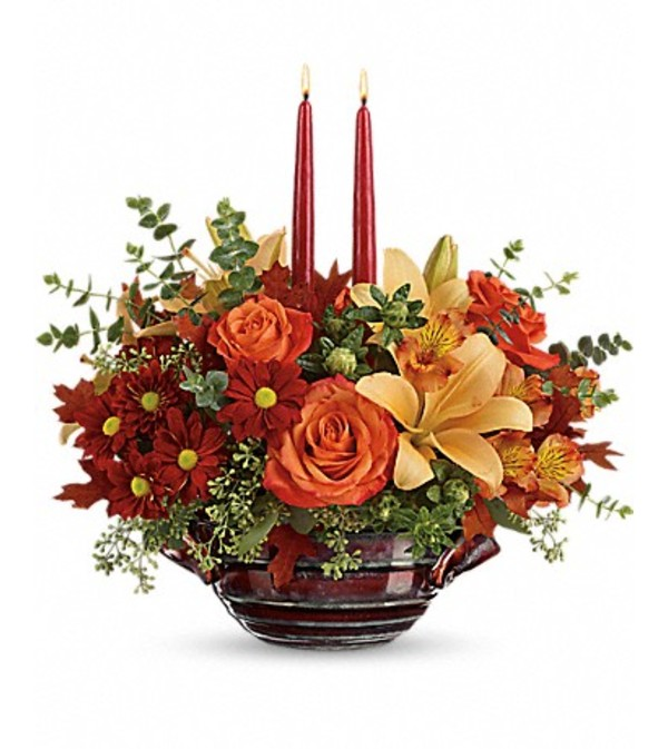 Teleflora's Autumn Gathering Centerpiece