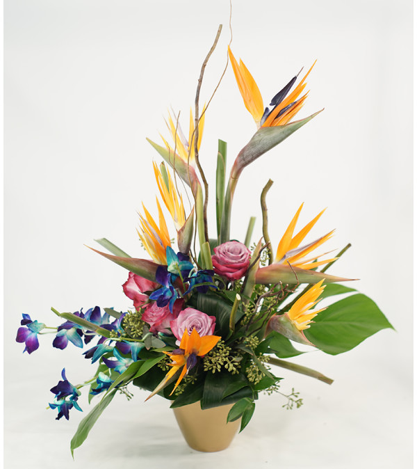 Tropical Joy with Mixed Blooms