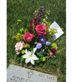 Springtime Garden Gravesite Arrangment