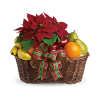 Fruit and Poinsettia Basket deluxe