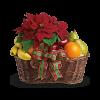 Fruit and Poinsettia Basket premium