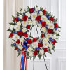 Serene Blessings™ Standing Wreath- Red, White & Blue