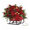 Vintage Sleigh bouquet deluxe