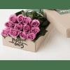 One Dozen Purple Roses deluxe