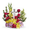 Crystal Cross Bouquet premium